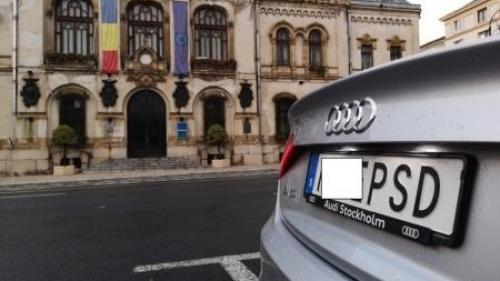 Procurorii au clasat dosarul şoferului maşinii cu număr anti-PSD, pe motiv că fapta nu există
