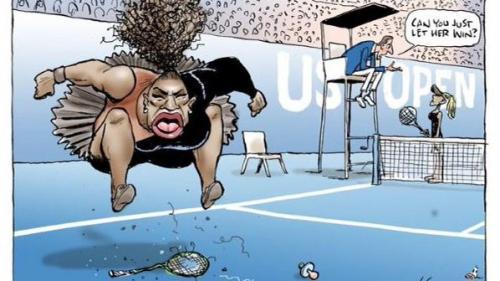 Un ziar australian a preluat pe prima pagină controversata caricatură cu Serena Williams, sfidând valul de critici