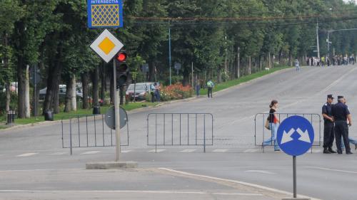 Atenţie şoferi! Restricţii de trafic din cauza protestului de la sediul Ministerului Transporturilor