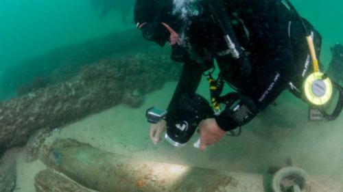 Epavă veche de 400 de ani, decoperită în Portugalia