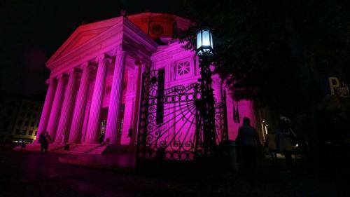 Cancerul de sân. Ateneul Român a fost ''Iluminat în roz'' (Galerie FOTO)