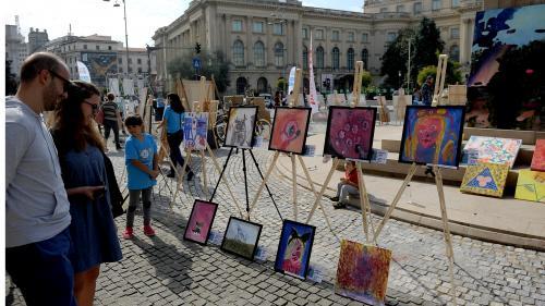 GALERIE FOTO. Art Walk Street România - primul festival outdoor de artă