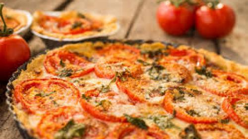 Reţeta zilei:Tartă de roşii cu brânză