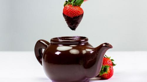 Ceainic din ciocolată