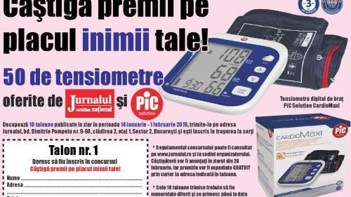 Câştigă premii pe placul inimii tale: Jurnalul oferă 50 de tensiometre profesionale!