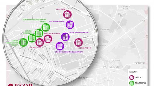 În zona Expoziției se anunță proiecte care vor totaliza spații de birouri de peste 200.000 mp și peste 3.000 locuințe, în următorii cinci ani