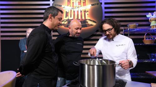 Chefii Bontea, Dumitrescu și Scărlătescu  se luptă pentru singurul avantaj din sezonul special Chefi la cuțite