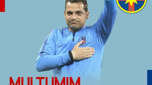 Anunț OFICIAL. Mihai Teja nu mai este antrenorul FCSB