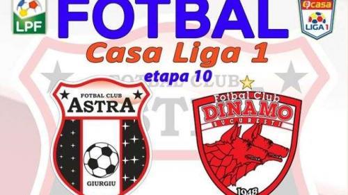 Astra Giurgiu - Dinamo 3-2. Budescu, două goluri și un cartonaș roșu