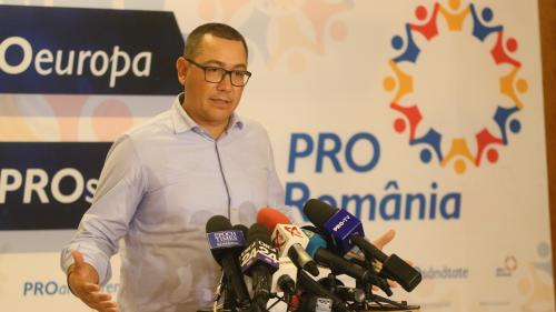 Ponta: Este o singură alianţă între Pro România şi ALDE - de susţinere a candidatului Mircea Diaconu