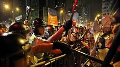 Asediu asupra protestatarilor din Hong Kong