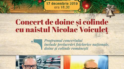 Concert de doine și colinde cu Nicolae Voiculeț  la Teatrul Național SATIRICUS. ION LUCA CARAGIALE din Chișinău