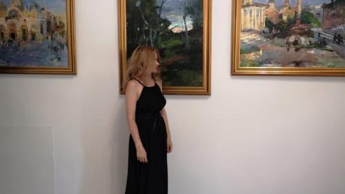 Maria Jarda: de la pictura în gând, la expoziții în Italia