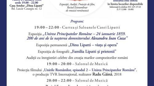 """Unirea Principatelor Române, la Casa Artelor """"Dinu Lipatti"""". Ediție omagiu, la 200 de ani de la nașterea lui Cuza"""
