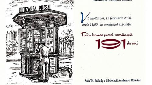 """Biblioteca Academiei Române vă invită la  expoziția eveniment """"Din lumea presei românești – 190 de ani"""""""