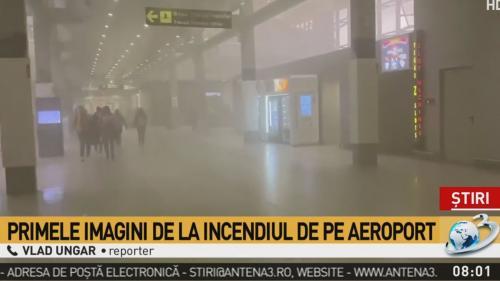 Incendiu în terminalul de plecări de la Aeroportul Otopeni