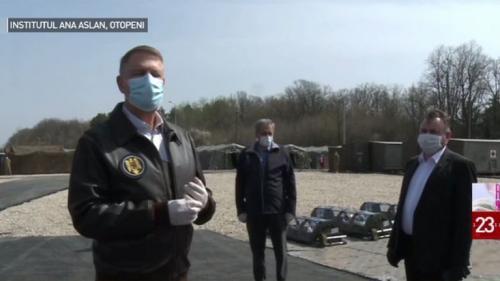 Iohannis și Orban vizitează Spitalul Militar de Campanie ROL II, destinat pacienților infectați cu COVID-19