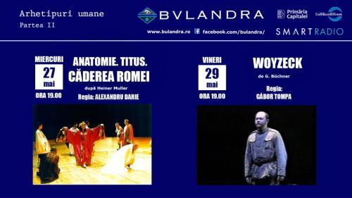 """""""Titus Andronicus"""" și """"Woyzeck"""" își dau întâlnire pe scena online a Teatrului """"Bulandra""""!"""