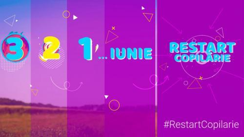"""Peste 30 de vedete TVR participă la campania în care Ziua Copiilor durează o lună Din 30 mai până în 30 iunie, TVR """"DĂ RESTART COPILĂRIEI"""""""