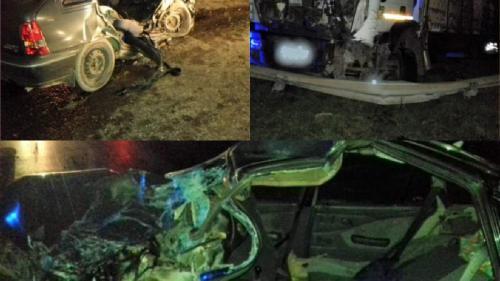 Tragedie la ieșirea din Urziceni. O mașină a fost spulberată de un camion. Două persoane au murit