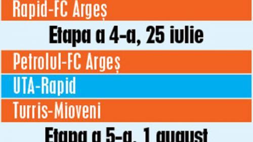 Rapid, cu trei victorii, revine în Liga 1