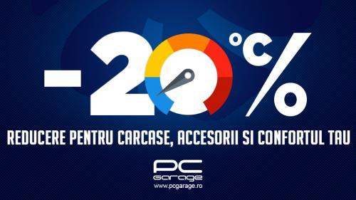 """(P) PC Garage """"scade temperatura"""" cu reduceri de 20%,  la gama de carcase, surse şi accesorii de răcire"""