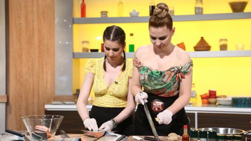 Adina Buzatu şi fiica sa, Sara, gătesc împreună la Chefi la cuţite. Ediția de marţi a show-ului de cooking a fost lider de audiență