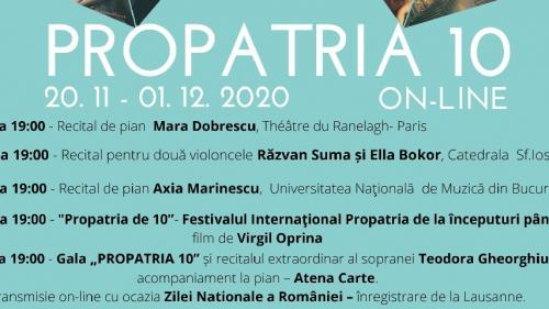 Festivalul Internaţional Propatria - Tinere talente românești – ediţia a X-a