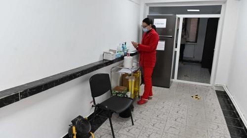 Centru de imunizare în Călăraşi