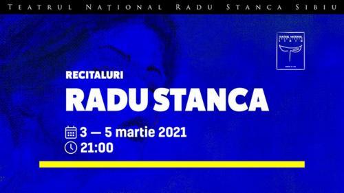 """Teatrul Național """"Radu Stanca"""" Sibiu celebrează 101 ani de la nașterea scriitorului Radu Stanca cu o serie de recitaluri online în perioada 3 - 5 martie"""