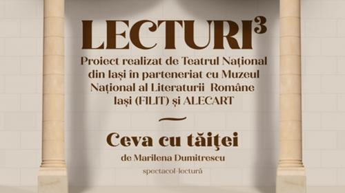 """Premieră la Teatrul Național Iași: spectacolul-lectură """"Ceva cu tăiței"""" deschide cea de-a doua ediție a proiectului """"Lecturi³"""""""