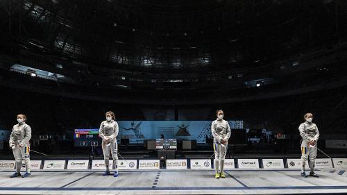 Echipa feminină de sabie a României a câștigatmedaliade bronzla Mondialele pentru juniori de la Cairo