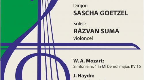 HAYDN-MOZART-BEETHOVEN,  sub bagheta dirijorului vienez SASCHA GOETZEL,  LIVE de la SALA RADIO