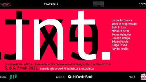"""""""INT. EXT."""", un performance-manifest despre condiția artistului în pandemie, LIVE în vitrinele Galateca"""