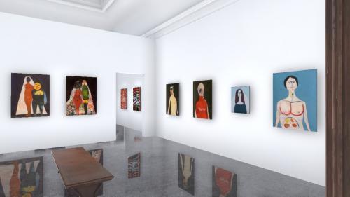 """La invitația Arbor.art.room, pictorul Giuliano Nardin se """"aventurează"""" în realitatea virtuală. """"Luni de fiere"""" e ceea ce reprezintă artistul pentru publicul online"""