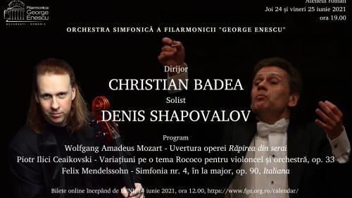Finalul stagiunii simfonice a FGE, împreună cu maestrul Christian Badea și violoncelistul Denis Shapovalov, câștigător al concursului Ceaikovski