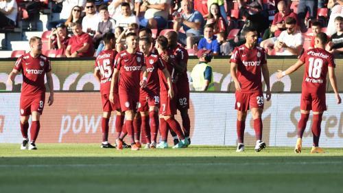 Victorie importantă pentru CFR Cluj . Campioana și-a asigurat prezența în grupele Conference League