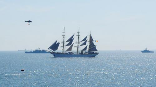 Spectacol naval la TVR 1, de Ziua Marinei Române