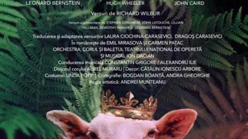 """Teatrul Național de Operetă și Musical """"Ion Dacian""""prezintă piesa """"Candid"""" o Premieră susținută în cadrul Festivalului Internațional """"George Enescu"""" 2021."""